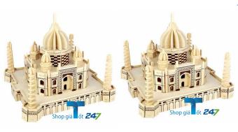 Bộ 2 Bộ đồ chơi lắp ghép gỗ đền thờ Tai Maha Ân Độ 165 chi tiết GT247