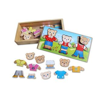 Thời trang gia đình gấu bằng gỗ Winwintoys 68232