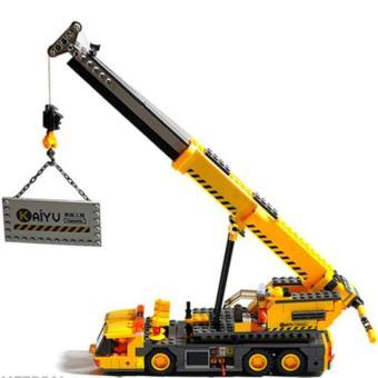 Bộ xếp hình LEGO Xe Cẩu Đa Năng BINBIN XH02 (Vàng)