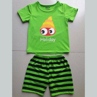 Bộ quần áo trẻ em in hình con ốc BTE003 (Màu xanh)