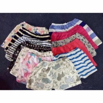 Bộ 10 quần cotton kẻ ngộ nghĩnh cho bé Dma store