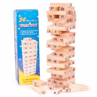 Bộ đồ chơi rút gỗ 54 thanh kèm xúc xắc