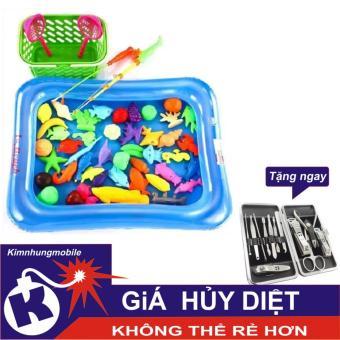 Bộ đồ chơi câu cá cho bé kèm bể phao - Bơm tay Kim Nhung + Bộ bấm móng tay
