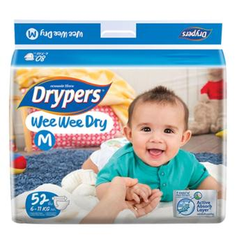 Tã dán Drypers Wee Wee Dry M.52 (6-11kg)