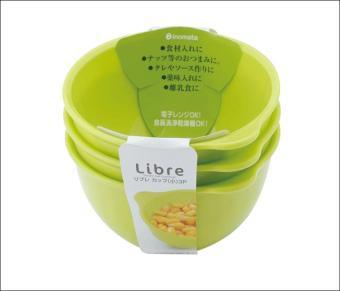 Bộ 3 bát ăn cho bé Inomata Libre 07001 (173mlx3)
