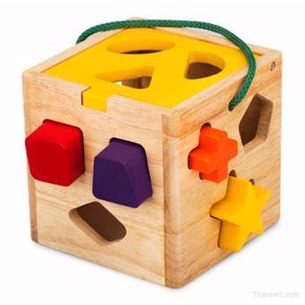 Đồ chơi gỗ Winwintoys hộp thả khối hình gỗ