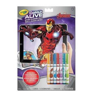 Tập và bút tô màu thần kỳ 4D Crayola Color Alive Avengers