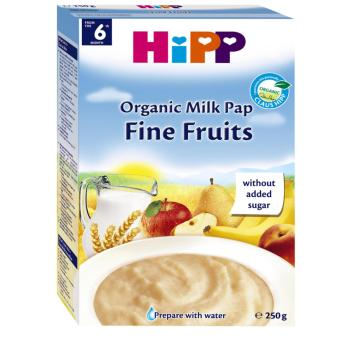 Bột dinh dưỡng hoa quả tổng hợp Hipp táo, chuối, lê, mơ, 250g TẶNG một cốc tập uống HiPP