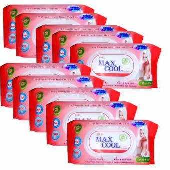 Bộ 9 gói khăn ướt Maxcool 100 tờ hương nha đam