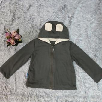 Áo khoác dài tay màu xám đậm AK02_XĐ MihaBaby