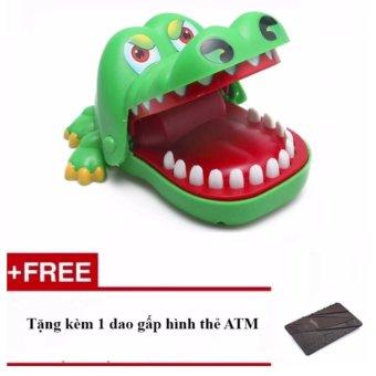 Đồ chơi khám răng cá sấu + Tặng dao gấp ATM