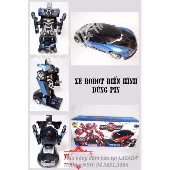 Ô-tô thể thao biến hình Robot Mecha Ares (Xanh phối đen)