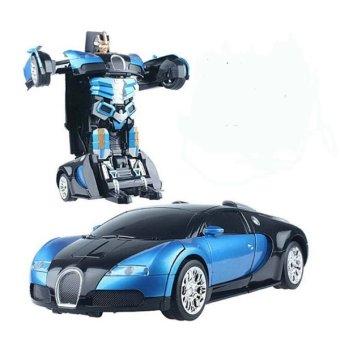 Xe ô tô biến hình thành SIÊU NHÂN TRANSFORMERS điều khiển từ xa (xanh phối đen)