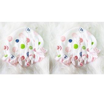 Bộ 2 nón sơ sinh bèo hồng