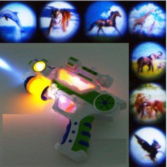 Súng đồ chơi 7 âm thanh và chiếu 7 hình ảnh HQ206121 (trắng)