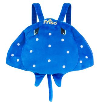 (Quà tặng không bán)Ba lô cá đuối màu xanh đại dương cho bé