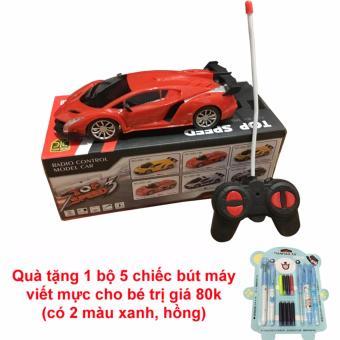 Siêu xe ô tô điều khiển từ xa Top Speed (Đỏ) + Tặng Bộ 5 bút máy viết mực cho bé