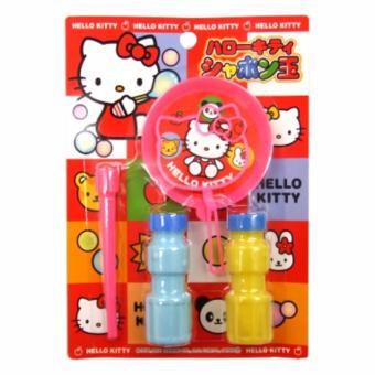 Bộ thổi bong bóng xà phòng Kitty hàng Nhật (Hồng Vàng)