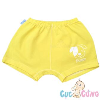 Quần ngắn cho bé sơ sinh YOU màu in hình số 2 - màu vàng