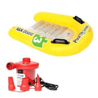 Bộ phao tập bơi cho bé Kick Board Intex58167 và Bơm điện bơm bể bơi 210W