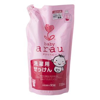 Nước giặt Arau Baby dạng túi 720ml (Hồng)