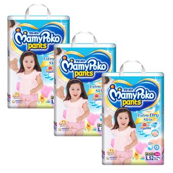 Bộ 3 tã quần Mamypoko L52 (Girl)