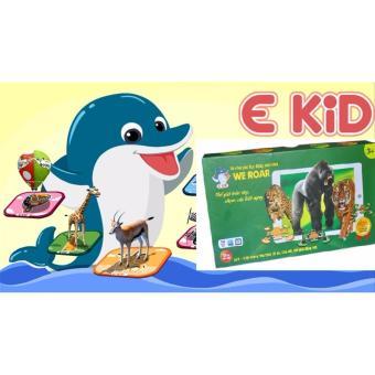 Bộ tranh ghép hình tương tác 3D (AR) song ngữ Anh/Việt EKID We Roar - Thế giới loài vật