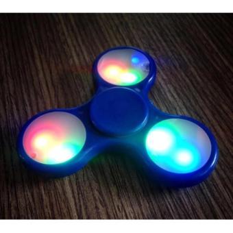 Fidget Spinner_Hand Spinner con quay giảm stress có đèn LED (xanh)