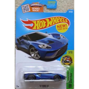 Xe mô hình tỉ lệ 1:64 Hot Wheels 2016 '17 Ford GT - Xanh