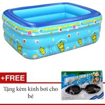 Bể bơi phao 3 tầng GocgiadinhVN (tặng kèm kính bơi cho bé)