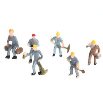 Model Train Workers Figures Workman 25 Little People Painted Building Layout 1:87 Scale - Intl