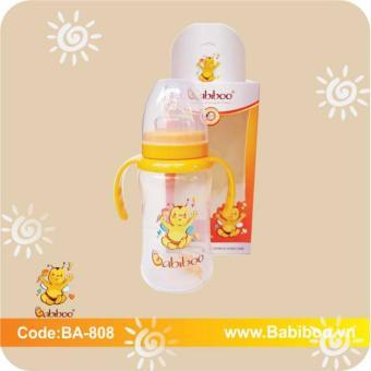 Bình sữa Babiboo cổ rộng nhựa PP 280ml an tâm hơn cho bé yêu (Màu Off White (Trắng pha xám hoặc vàng rất nhạt))