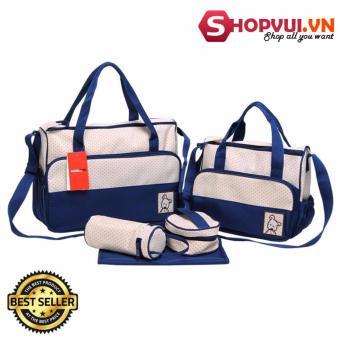 Túi đựng đồ cho mẹ và bé 5 chi tiết (Xanh navy)