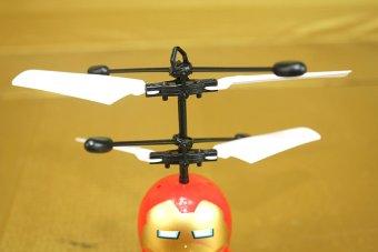 Máy bay điều khiển Iron Man cảm ứng (Đỏ)