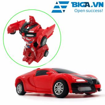 Đồ Chơi Siêu Xe Biến Hình Thành Robot US04124 (Đỏ)
