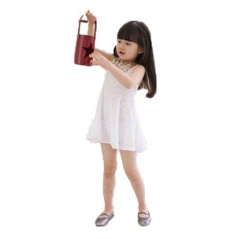 Đầm ren đính cườm cho bé Cirino (Trắng)