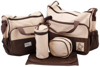 Túi đựng đồ cho mẹ và bé 5 chi tiết Shopconcuame (Nâu)