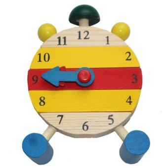 Đồng hồ tập xem giờ bằng gỗ HPM0885