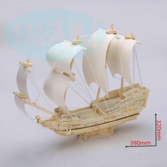 Bộ xếp hình 3D thuyền buồm cướp biển