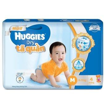 (Quà tặng không bán)Tã quần Huggies Dry Super Jumbo M4
