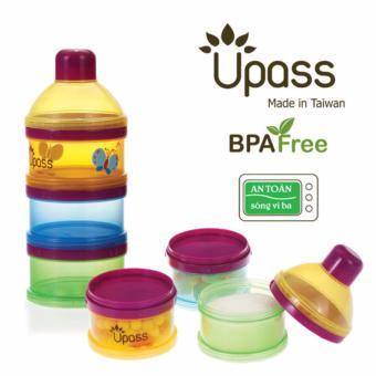 Upass-Hộp đựng sữa 3 ngăn bằng nhựa không BPA có bộ chia UP8011C
