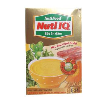 Bột ăn dặm heo rau ngót bí đỏ Nuti IQ 200g
