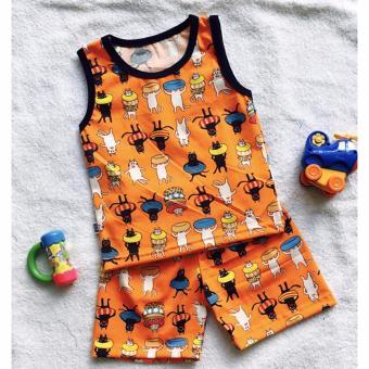 Quần áo trẻ em Bộ muôn thú BTE009 (Màu cam)