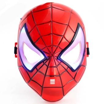 Mặt nạ Spider man đỏ đèn led trắng