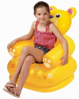 Ghế hơi trẻ em hình gấu vàng Intex 68556 (Vàng)