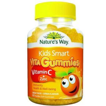 Kẹo vita gummies bổ sung vitamin C, Kẽm cho bé 60 Viên