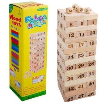 Bộ đồ chơi rút gỗ48 miếng (Nâu)
