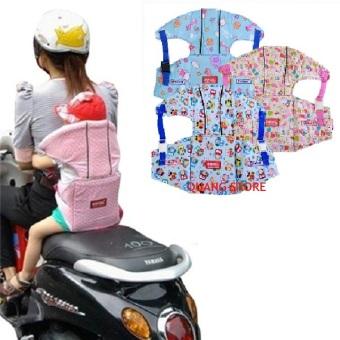 Đai xe máy trẻ em có đỡ cổ (Hồng họa tiết)