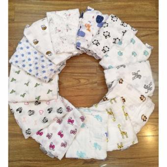 Bộ 2 khăn tắm sợi tre 3 lớp Aden + Anais cho bé