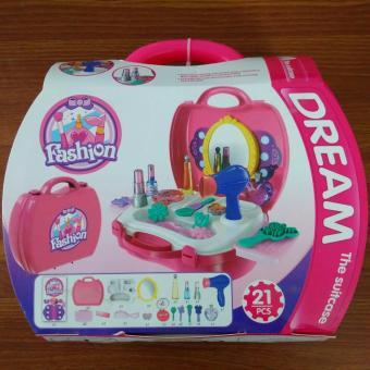 Bộ đồ chơi vali trang điểm cho bé gái(Hồng)